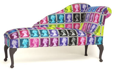 Postage Stamp Queen Chaise Longue